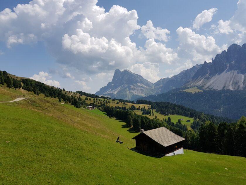 Berghütte in den Dolomiten