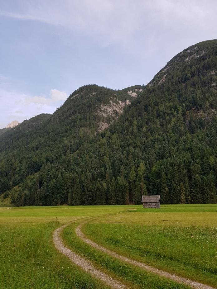 Einsame Hütte in Tirol