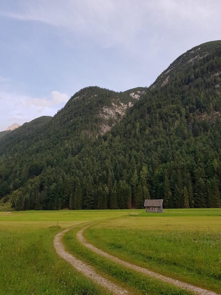Einsame Hütte in Leutasch
