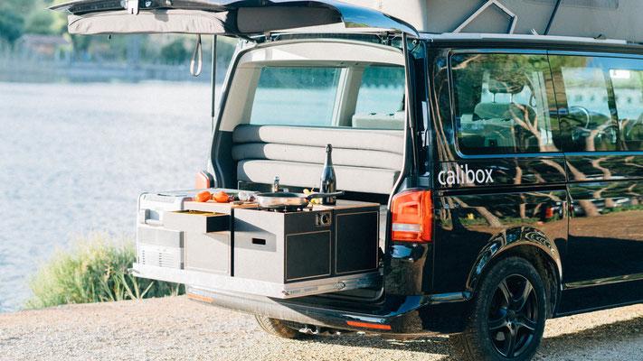 Heckküche mit den calibox Camping Modulen