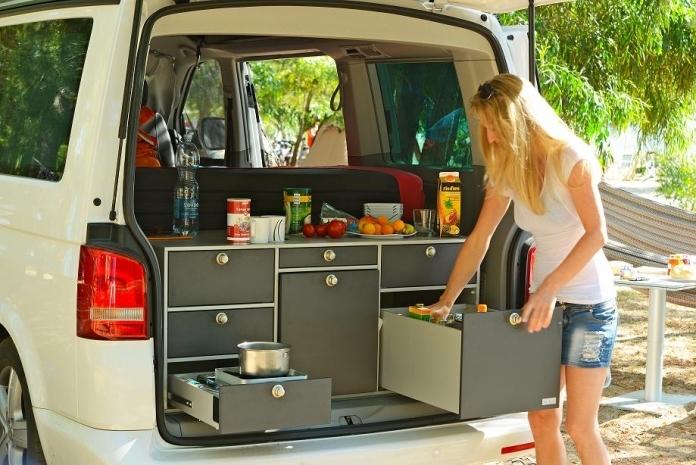 VanEssa Campingbox im Einsatz