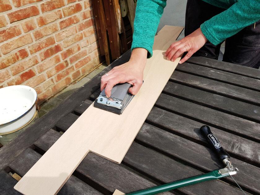 Holzlackierung für die Grundfläche