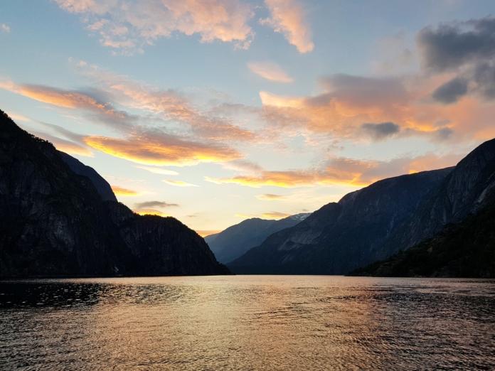 Sonnenuntergang am Eidfjord