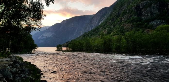 Eidfjord am Campingplatz