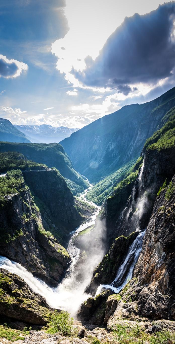 Der Blick auf den Vøringsfossen und das Måbødal