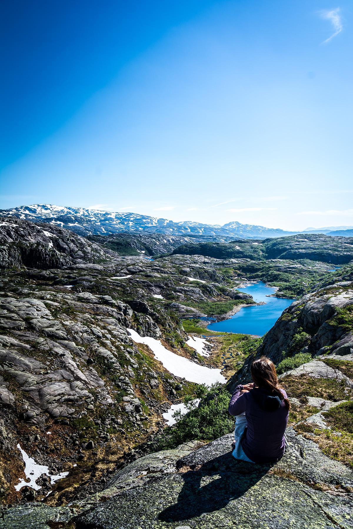 Was für eine Aussicht in Norwegen