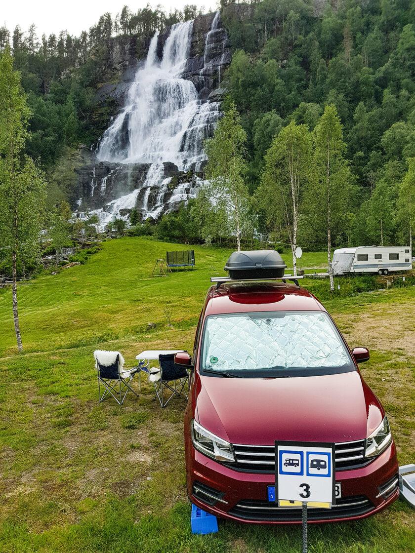 Campingplatz am Tvindefossen