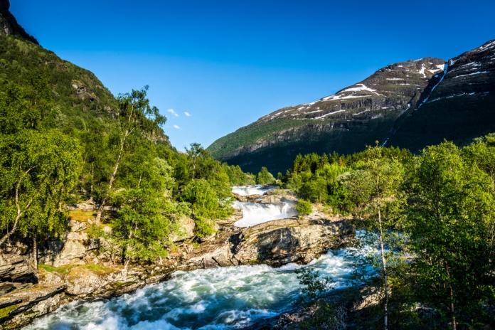 Der erste Vorgeschmack auf die vielen Wasserfälle