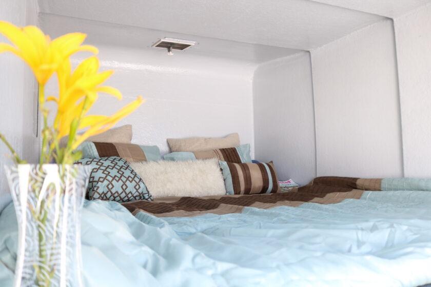 Schlafzimmer im Anhänger