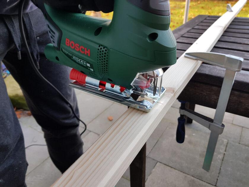 Holzrahmen sägen