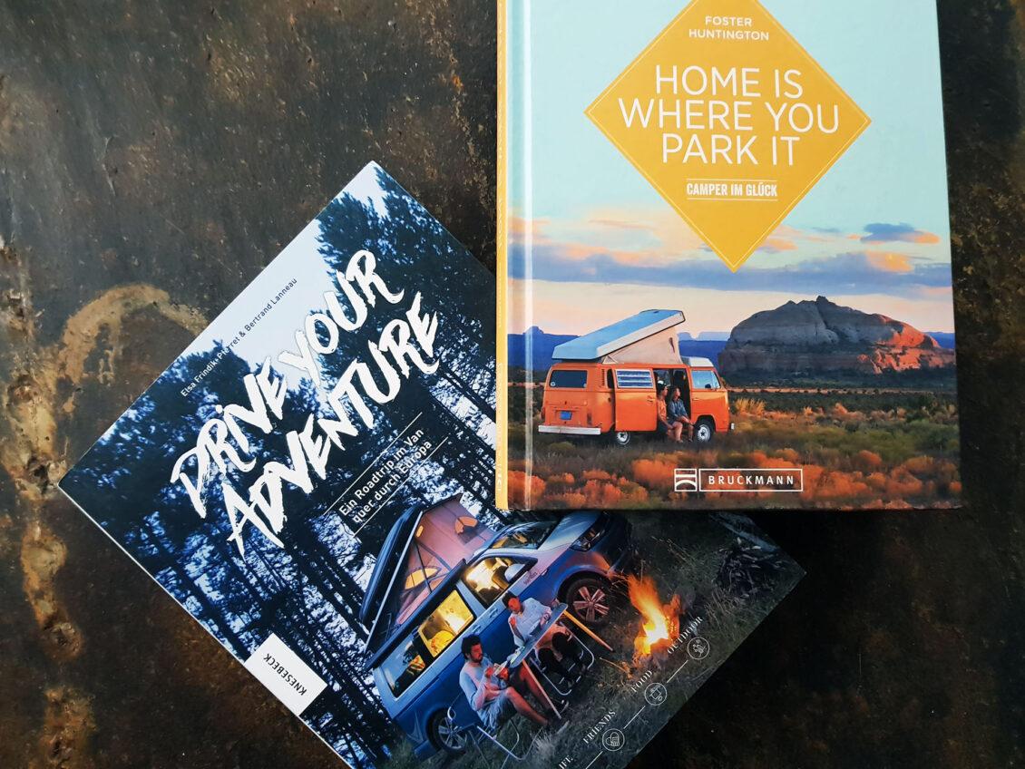 Zwei Vanlife Bücher suchen ein neues Zuhause