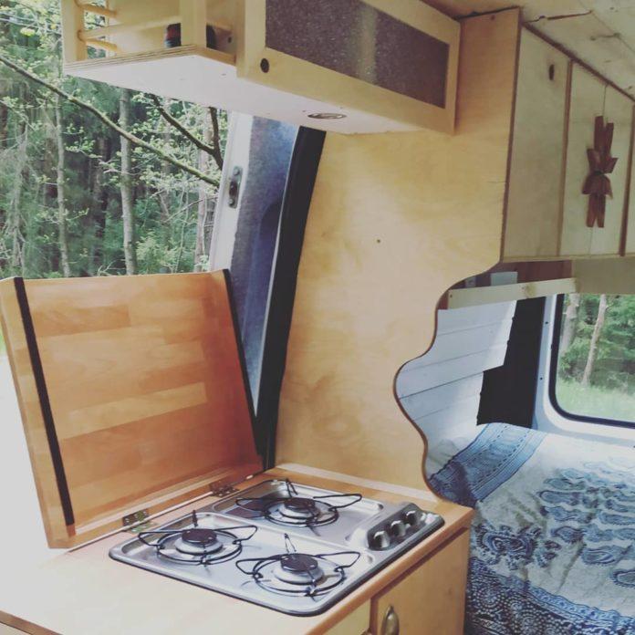 DIY Van Kitchen