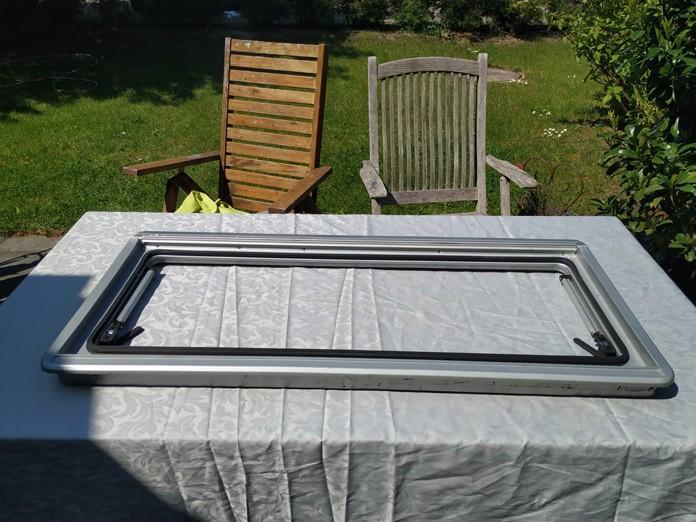 Noch ist das Seitz S4 Fenster silber.
