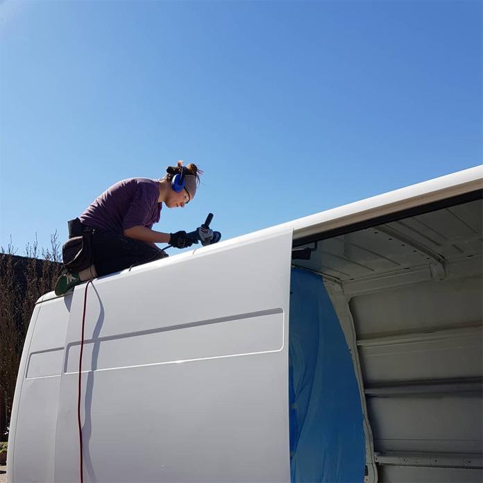 Rostbehandlung auf dem Dach