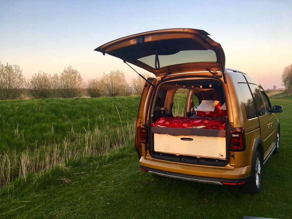 Caddy mit Biberbox von travelcaddy.de