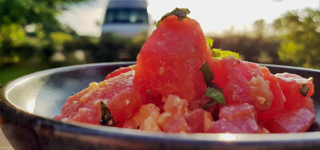 Rezept Melonensalat mit Feta