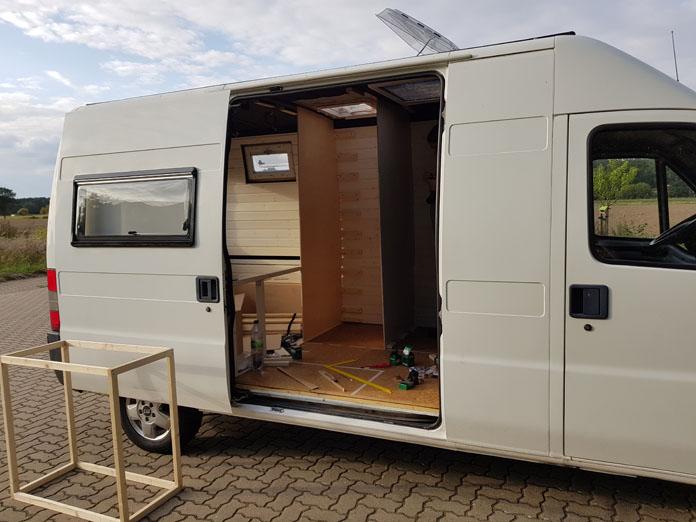 Grundgerüst Küchenblock Camper Ausbau