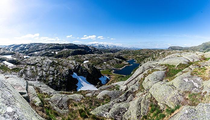 Bergpanorama in Norwegen