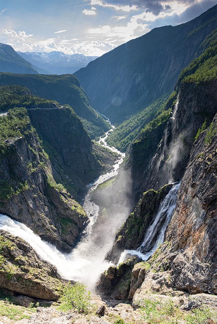 Wasserfall Panorama in Norwegen