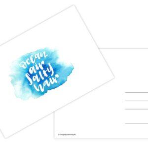 Ocean Air Salty Hair - Postkarte