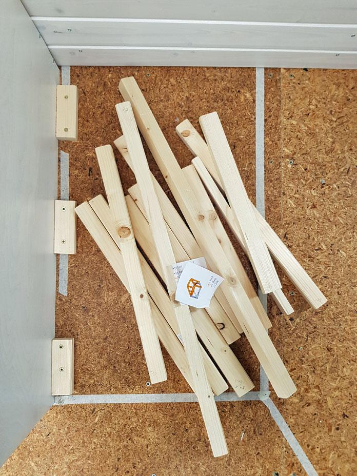 Das Holz für unsere Sitzecke