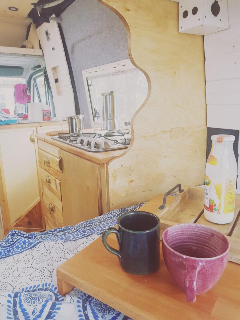 Unsere Kaffeetafel im Wohnmobil