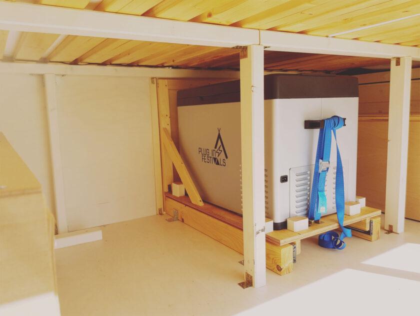 Kompressor Kühlbox im DIY Camper