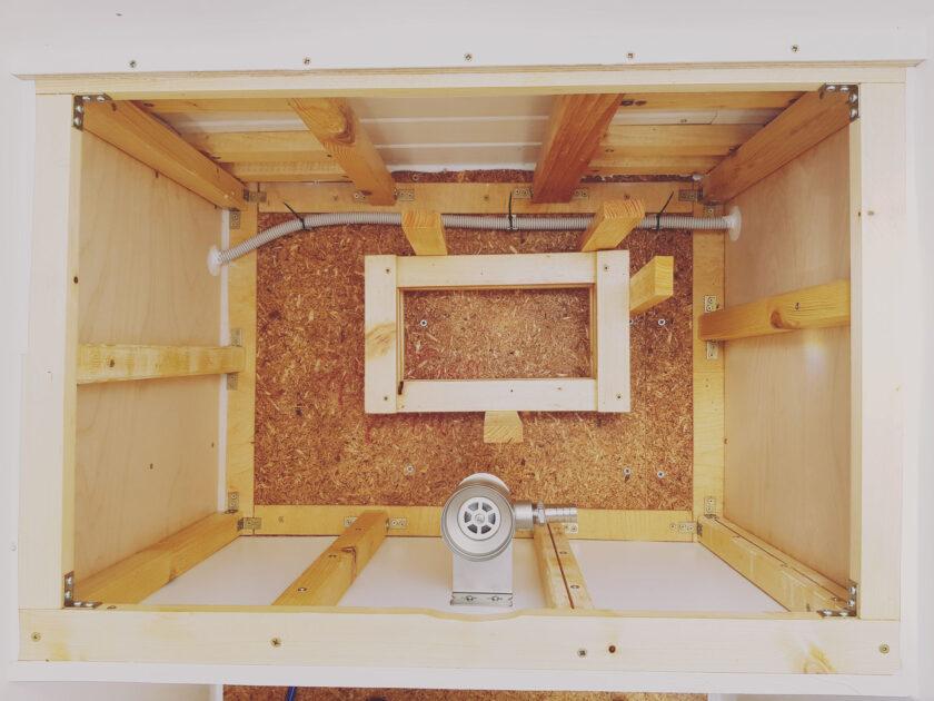 Siphon für Trockentrenntoilette