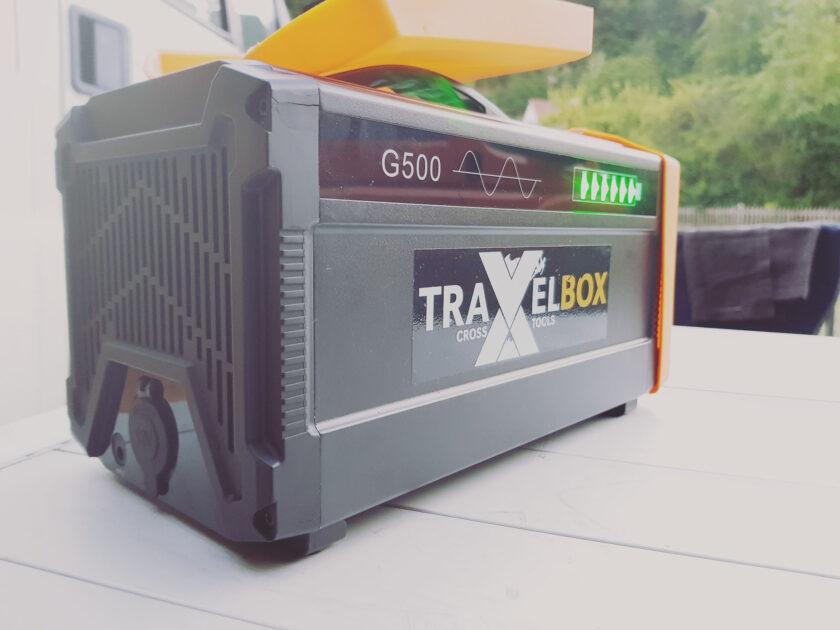 Anschlüsse Rückseite Travelbox 500 Powerstation