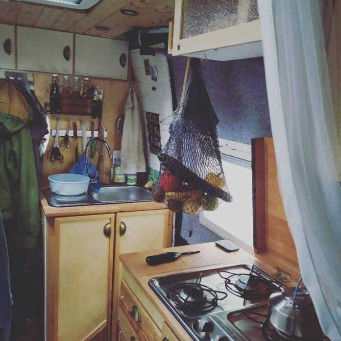 Die Küche nach dem Einzug