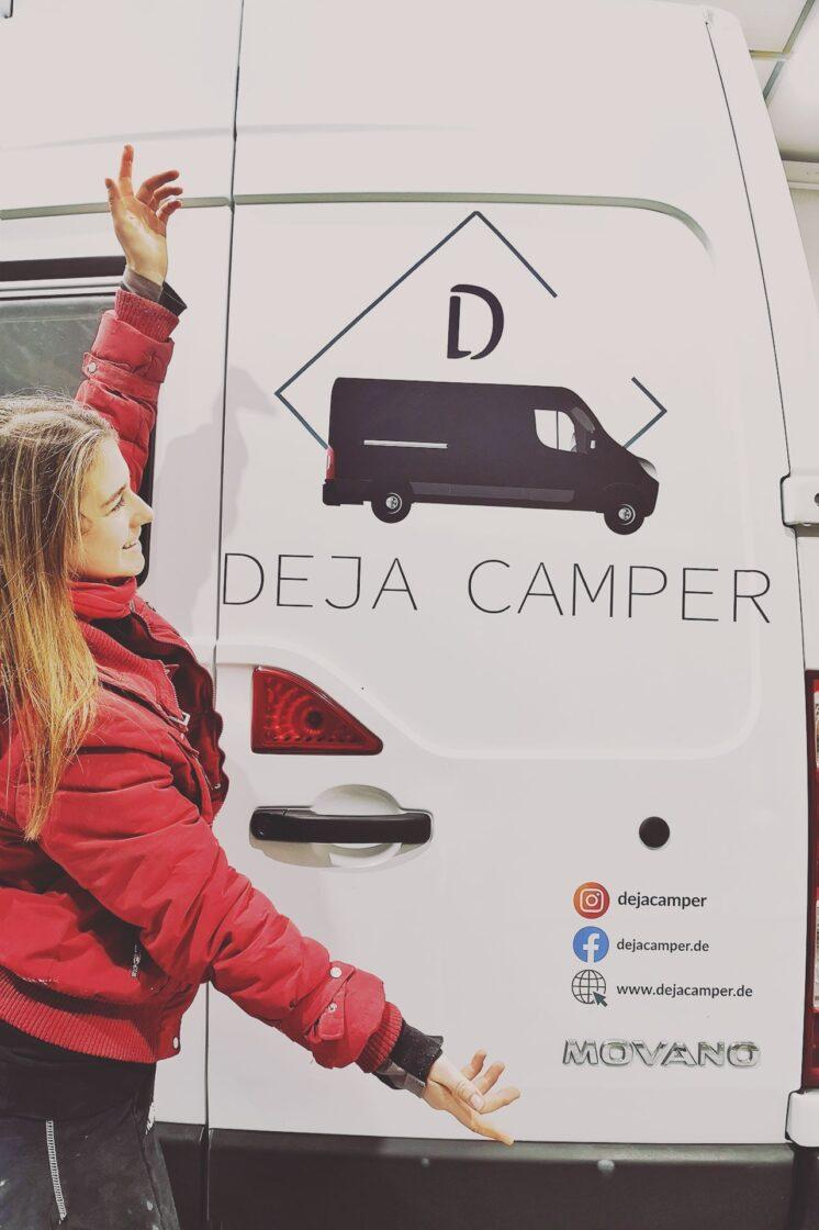 DEJA Camper Logo Sticker