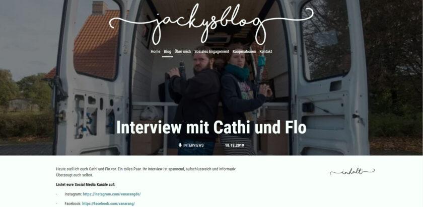 Interview auf jackiesblog.de