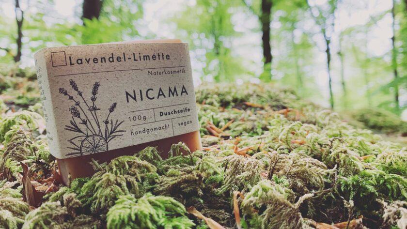 NICAMA Lavendel Limette Duschseife