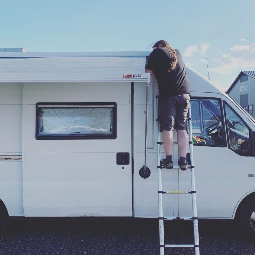 Instagram Vanlife Markise anbauen