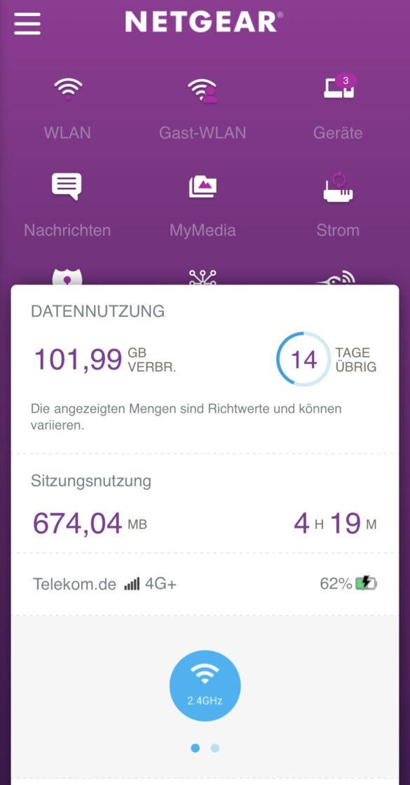 Screenshot Netgear iOS App Nighthawk M1