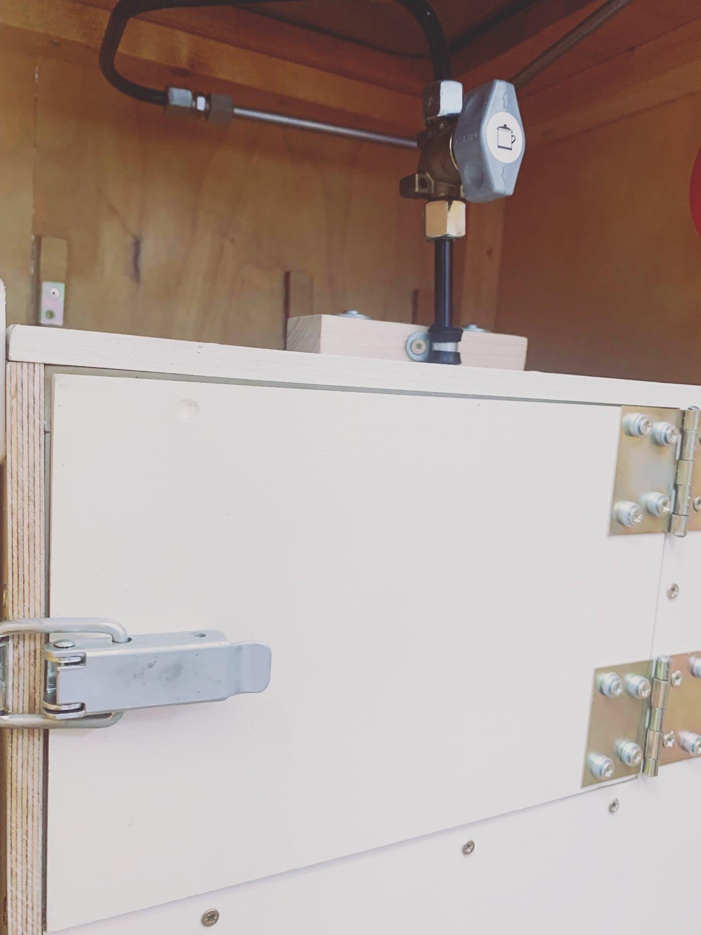 Gaskasten Zugang vom Wohnraum