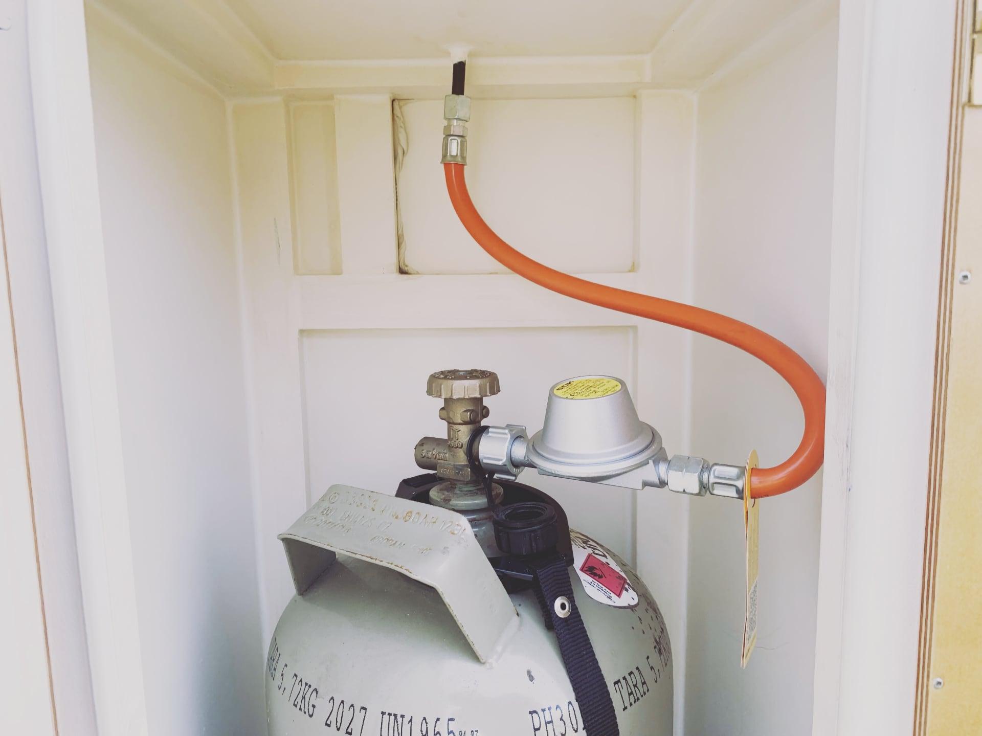 Das Innere des Gaskastens
